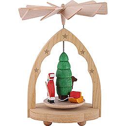 1 - Tier Mini Pyramid Santa Claus  -  10cm / 4 inch
