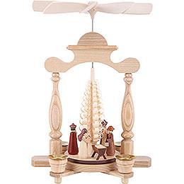 1 - Tier Pyramid  -  Nativity Scene  -  32cm / 13 inch