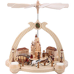 1 - Tier Pyramid  -  Pointed Arch Old Dresden  -  36cm / 14 inch