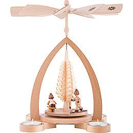 1 - Tier Pyramid  -  Winter Children   -  28cm / 11 inch