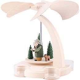 1 - stöckige Bogenpyramide Waldmotiv Teelichter  -  18cm
