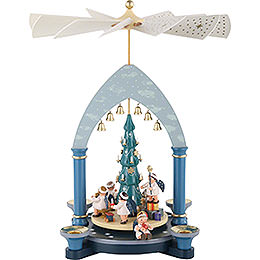 1 - tier Pyramid  -  Angels under tree  -  30cm / 12 inch