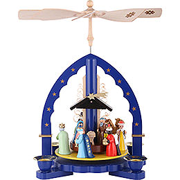 1 -  tier Pyramid Three Wisemen  -  blue  -  11 inch  -  27cm