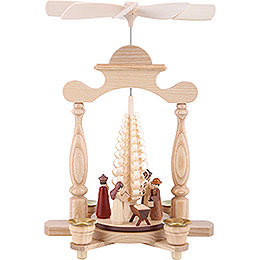 1 - tier pyramid  -  Nativity scene  -  32cm / 13 inch