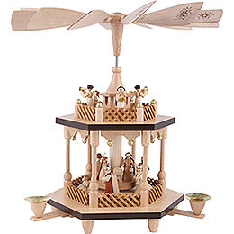 2 -  tier Pyramid Nativity Scene  -  13 inch  -  32cm