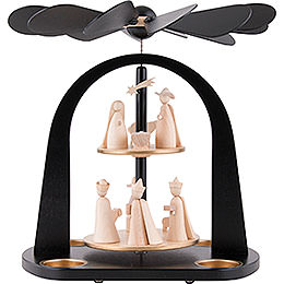 2 - tier pyramid Nativity  -  29cm / 11.4inch