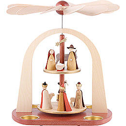 2 - tier pyramid Nativity scene  -  29cm / 11.4inch