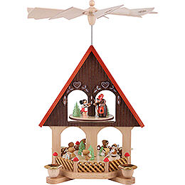 2 - tier pyramid house fairy tale  -  36cm / 14.2inch