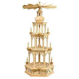 3 - Tier Pyramid  -  Blank without Figurines, Star Motif  -  100cm / 39 inch
