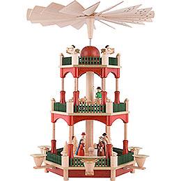 3 - stöckige Pyramide Christi Geburt  -  39cm