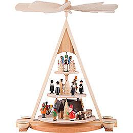 3 - stöckige Pyramide Erzgebirgsweihnacht  -  24cm