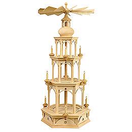 3 - stöckige Pyramide  -  unbestückt, Motiv Stern  -  für Wachskerzen  -  100cm