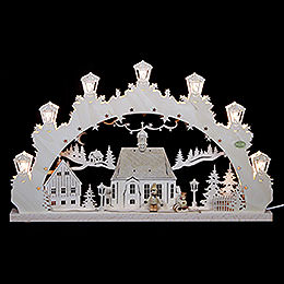 3D Candle Arch  -  Child with Sleigh  -  52x31,5x4,5cm / 20,5x12,5x2 inch