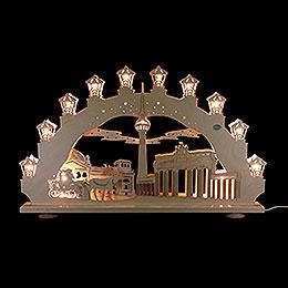 3D Candle arch 'Berlin'  -  66x40x6cm / 26x16x2.3inch