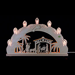 "3D Candle arch ""Nativity""  -  52x32x4,5cm / 20.5x12.5x1.7inch"