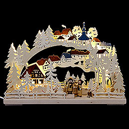 3D Candle arch winter hike  -  43x30cm / 17x12inch