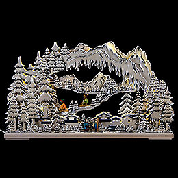 3D Double Arch  -  Winter Sports  -  72x43x8cm / 28x17x3 inch