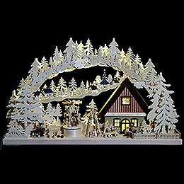 3D - Double - Arch  -  Workshop with Christmas Pyramid  -  72x43x8cm / 28x17x3inch