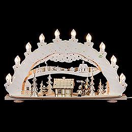 3D - Schwibbogen Skih�tte R�ucherhaus  -  66x40x11,5cm