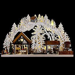 3D Schwibbogen Walki - Weihnachtsbäckerei  -  72x43cm