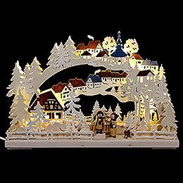 3D Schwibbogen Winterwanderung  -  43x30cm