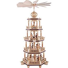 4 - Tier Christmas Pyramid  -  The Christmas Story  -  64cm / 25 inch