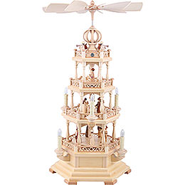 4 - Tier Pyramid  -  The Christmas Story  -  64cm / 25 inch  -  230 V Electr. Motor