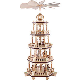 4 - tier christmas pyramid  -  The Christmas Story  -  64cm / 25 inch