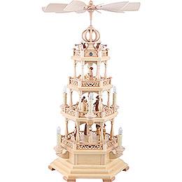 4 - tier pyramid  -  The Christmas Story  -  64cm / 25 inch  -  120 V electr. motor (US - standard)