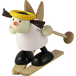 Angel Lotte on ski  -  snowplow    -  7cm / 2.8inch