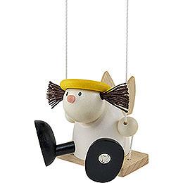 Angel Lotte on swing  -  7cm / 2.8inch