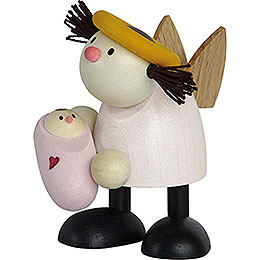 Angel Lotte with Baby Girl    -  7cm / 2.8 inch