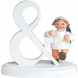 "Angel letter ""&""  -  7cm / 2.8inch"