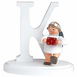 "Angel letter ""K""  -  7cm / 2.8inch"