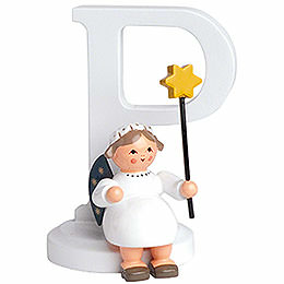"Angel letter ""P""  -  7cm / 2.8inch"