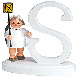 "Angel letter ""S""  -  7cm / 2.8inch"