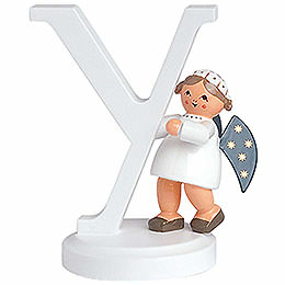 "Angel letter ""Y""  -  7cm / 2.8inch"