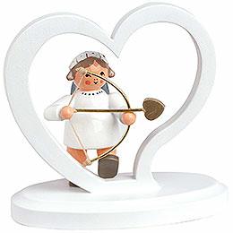 """Angel letter heart """"Amor""""  -  7cm / 2.8inch"""
