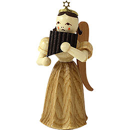 Angel long pleated skirt with panpipe, natural  -  6,6cm / 2.5inch