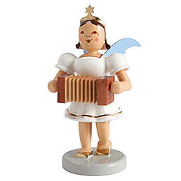 Angel short skirt colored, harmonica  -  6,6cm / 2.5inch