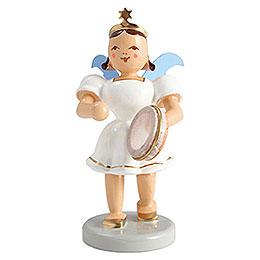 Angel short skirt colored, tambourine  -  6,6cm / 2.5inch