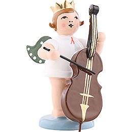 Angel with Crown and Double Bass  -  6,5cm / 2.5 inch