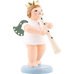 Angel with Crown and Straight Cornett  -  6,5cm / 2.5 inch