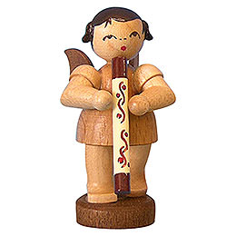 Angel with Didgeridoo  -  Natural Colors  -  Standing  -  6cm / 2,3 inch