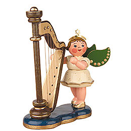 Angel with Harp  -  6,5cm / 2,5inch