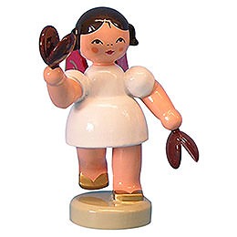 Angel with castanets  -  Red Wings  -  standing  -  6cm / 2,3 inch