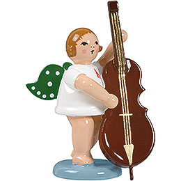 Angel with contrabass  -  6,5cm / 2.5inch