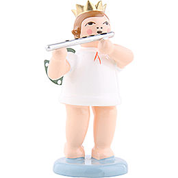 Angel with crown and German flute  -  6,5cm / 2.5inch