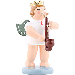 Angel with crown and heckelphone  -  6,5cm / 2.5inch