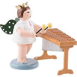Angel with crown at the xylophone  -  6,5cm / 2.5inch